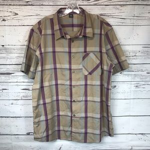 Oakley Men's Burton Down Plaid Shirt XL